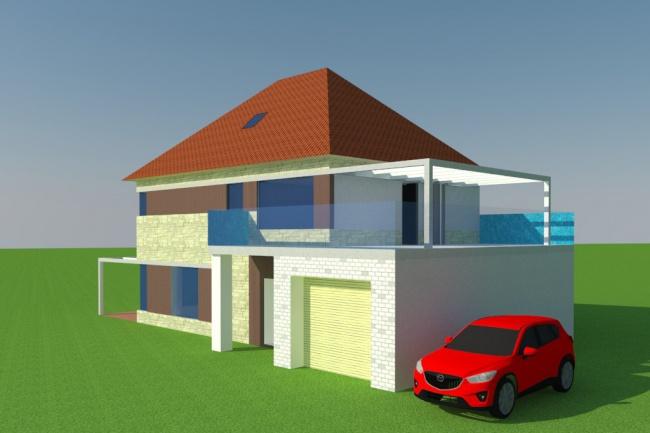 Нарисую 3D модель квартиры или дома по размерам 1 к 1Флеш и 3D-графика<br>Модель выполняется по плану или размерам. Любые требования и пожелания к 3D модели учитываются и обсуждаются. Заказчик получит: 1. Исходник 3d модели. 2. Инструкцию по использованию. 3. Изображения визуализации - 3 шт (с 3 разных ракурсов). Имея 3D модель можно наглядно и быстро показать практически любому исполнителю свою идею по строительству и перепланировке дома или квартиры. Преимущества: Исключается недопонимание между заказчиком и исполнителем. Проверка своей идеи методом визуализации в 3D (а не по факту строительства).<br>