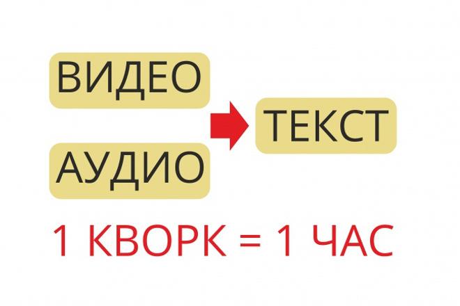 Перевод содержания аудио- , видеофайла в текст 1 - kwork.ru