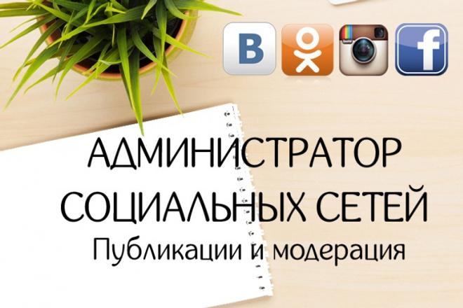 Администрирование социальных сетей в комплексе 1 - kwork.ru