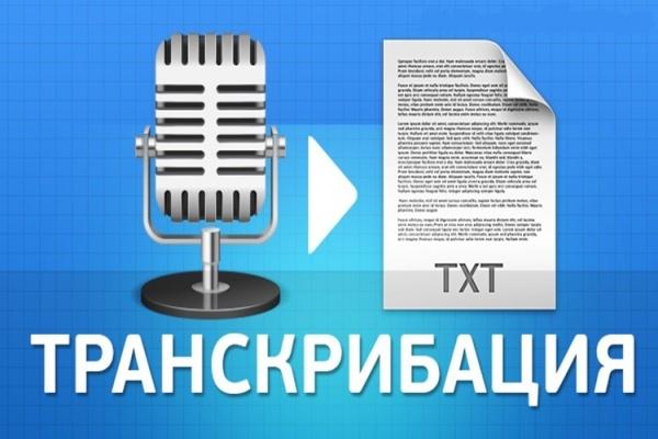 Грамотно сделаю транскрибацию аудио, видео в текстНабор текста<br>Здравствуйте! Буду рада сотрудничеству с Вами. Предлагаю Вам кворк - Грамотная транскрибация 50 минут аудио/видео в текст на русском или украинском языках. Дополнительные 10 мин аудио/видео оплачиваются по 80 руб.<br>