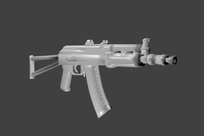 Сделаю 3D модель техники, окружения, оружия 1 - kwork.ru