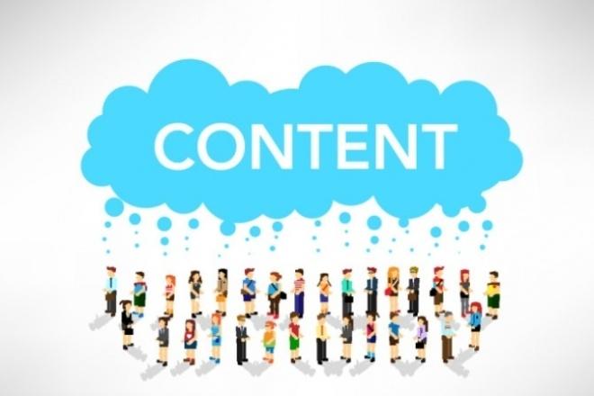 Наполнение сайтов нужным контентомНаполнение контентом<br>Здравствуй, дорогой друг! Рада приветствовать! Спасибо, что не прошел мимо! Наполню Твой сайт нужным контентом: с подбором тематических картинок и оформлением. Либо же загружу на сайт уже готовые ваши статьи с картинками. Возможны любые пожелания заказчика!<br>