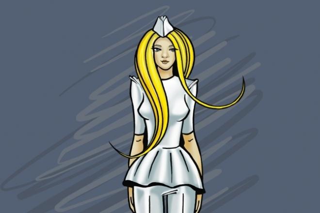Рисую fashion иллюстрации 1 - kwork.ru
