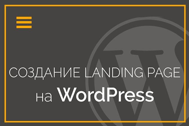 Создание landing PAGE на WordPress 1 - kwork.ru