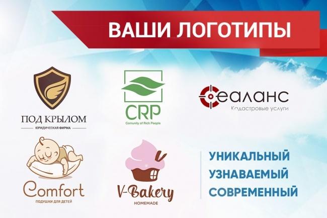 Разработка узнаваемого логотипа 1 - kwork.ru