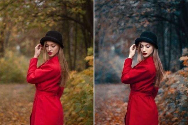Ретушь и цветокоррекцияОбработка изображений<br>Выполню для вас несложную ретушь и цветокоррекцию в программе Photoshop: - обработка изображений для социальных сетей, каталогов и интернет магазинов, возможно в едином стиле (фото, изображение товаров) - 40 фото. - создание фото коллажей - 30 коллажей. - нанесение текста на фото + ретушь - 40 фото.<br>