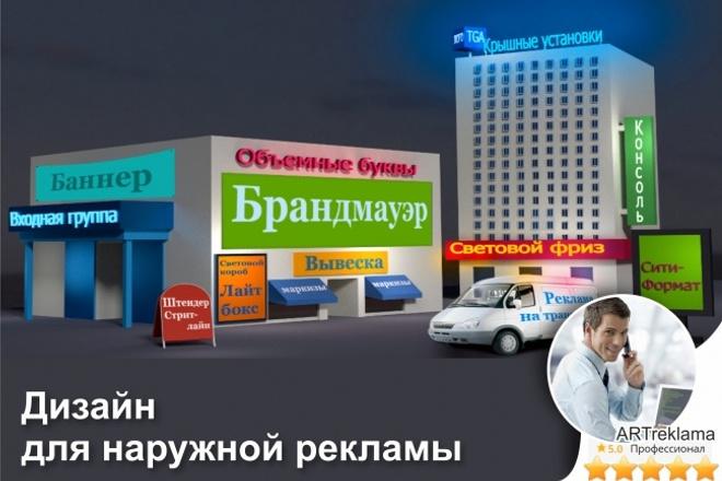 Дизайн наружной рекламы вывески, баннеры, таблички и т. д 1 - kwork.ru