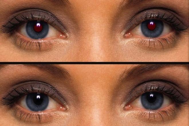 Уберу эффект красных глаз с 5 ваших фотоОбработка изображений<br>Уберу эффект красных глаз с 5 ваших фото. Количество красных глаз на одном фото не имеет значения..<br>