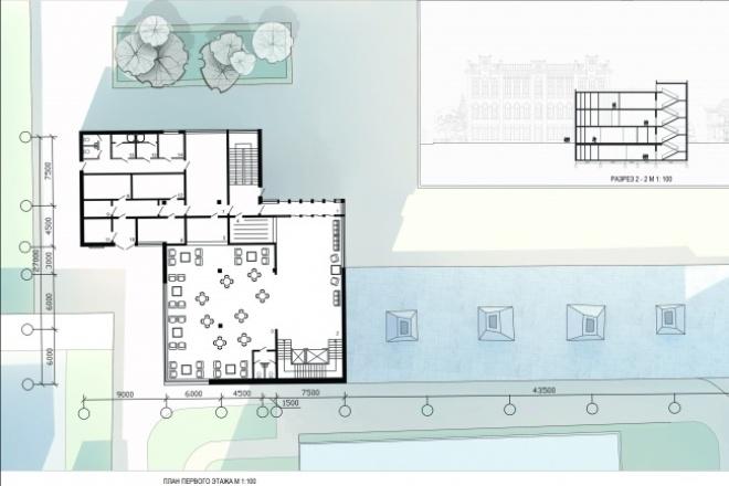 Чертеж AutoCADИнжиниринг<br>Архитектурные чертежи: планировки, фасады, разрезы и пр. Сохранение в необходимом формате, компоновка на лист.<br>