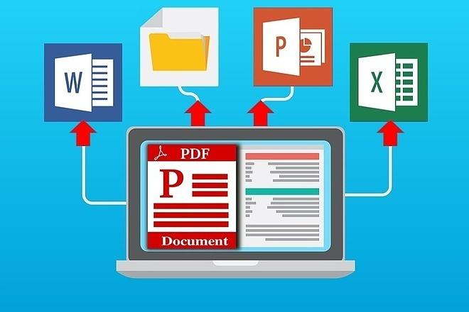 Конвертация PDF в WORD, excel, power point, JPEG 26 - kwork.ru