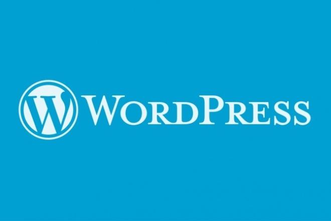 установлю и настрою Wordpress на хостинг 1 - kwork.ru