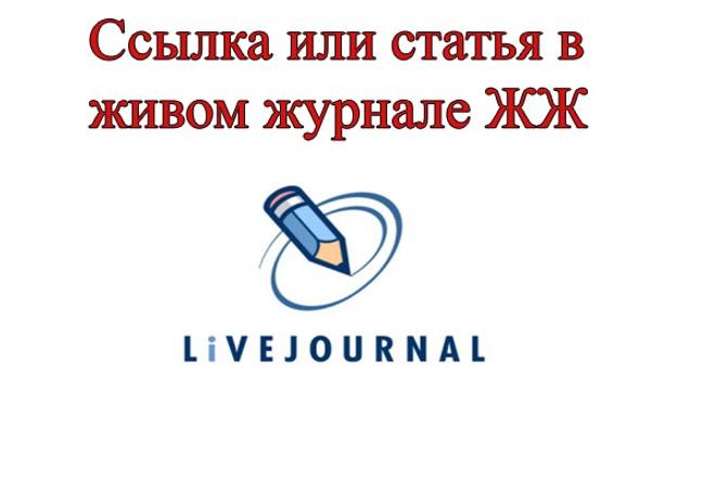 статья или ссылка в личном блоге ЖЖ 1 - kwork.ru