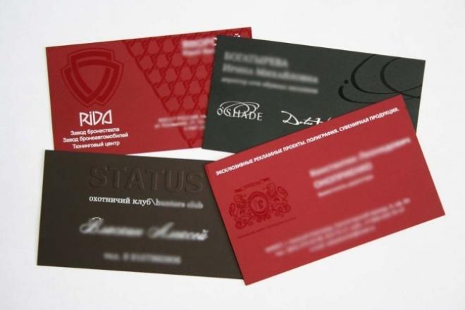 Разработаю дизайн визитной карточки 1 - kwork.ru