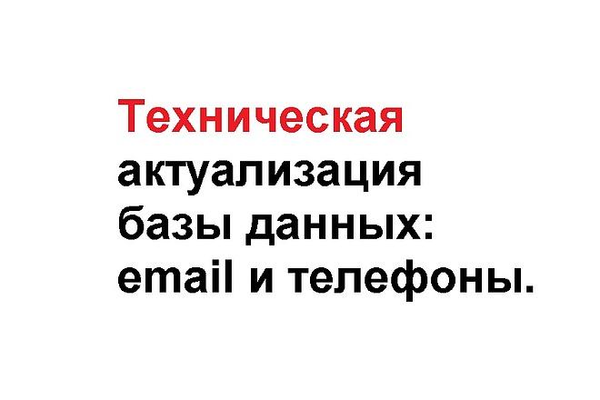 Техническая актуализация email адресов и телефонных номеров 1 - kwork.ru