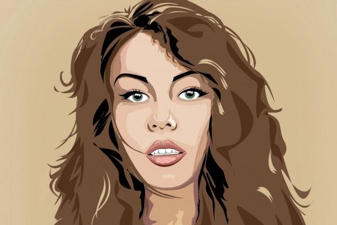 Портрет поп-арт 1 - kwork.ru