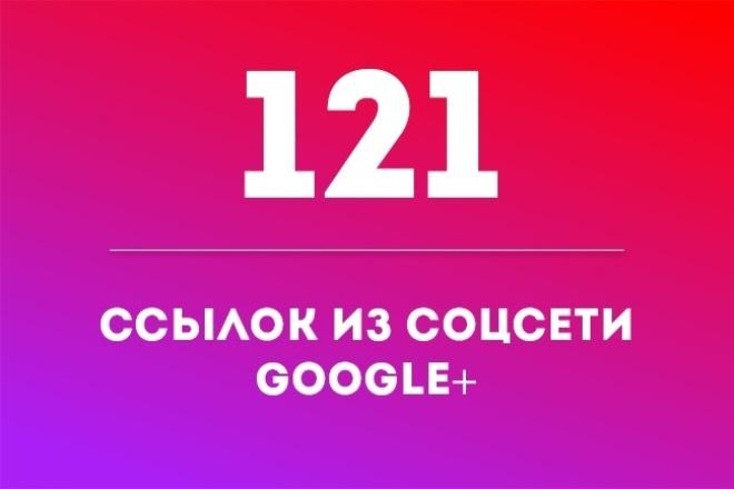 121 ссылка из Google+ 1 - kwork.ru