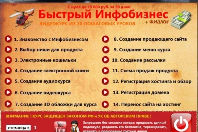 Освойте навыки создания быстрого инфобизнеса всего за 30 дней 1 - kwork.ru