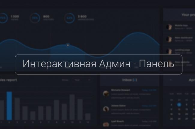Адаптивная Админ - Панель 1 - kwork.ru