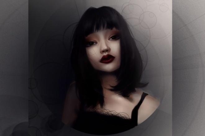 Стилизованный портрет на заказ 1 - kwork.ru