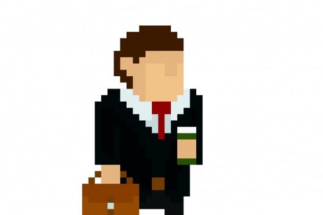 Векторные персонажи и предметы в пиксель арте 1 - kwork.ru