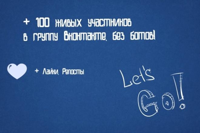 добавлю 100 живых подписчиков в вашу группу ВК 1 - kwork.ru