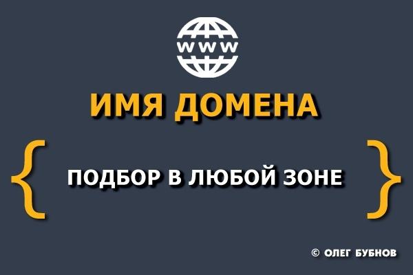 Подбор доступных и недорогих доменных имён 1 - kwork.ru