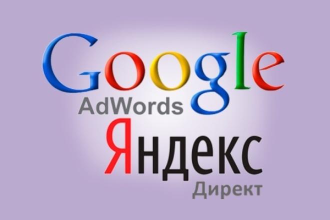 Настрою и запущу рекламную кампанию в ЯндексДирект и GoogleAdwords 1 - kwork.ru