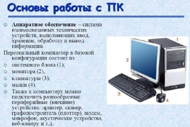 обучу основам работы с компьютером на примере Windows 7 1 - kwork.ru