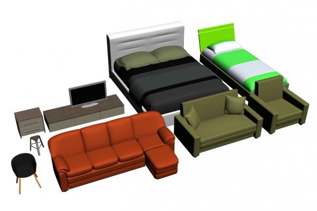 сделаю 3D модель мебели по фотографии 1 - kwork.ru