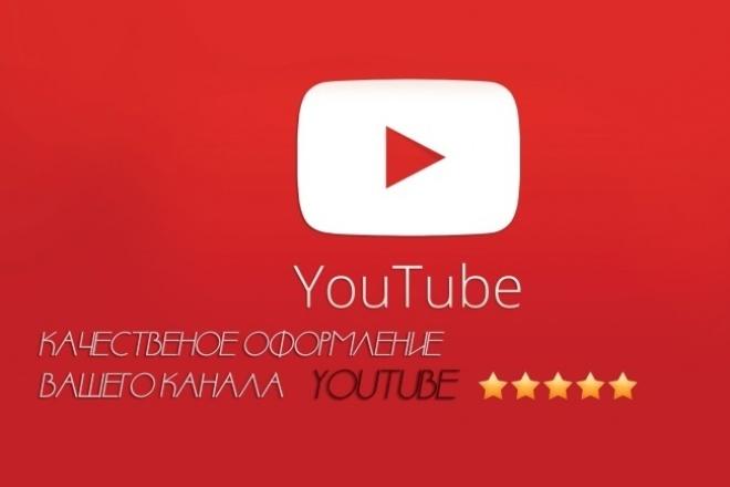 Оформлю для вас канал на YouTubeДизайн групп в соцсетях<br>Чтоб быстрее приобрести подписчиков на YouTube , нужно иметь красивый канал. Ибо он должен привлекать зрителей. Поверьте мне, набрать аудиторию без должного оформления достаточно тяжело ! Я хочу вам предложить мои услуги по дизайну вашего канал YouTube. Для вашего канала я сделаю красочную аватарку + шапку по тематике вашего контента. Буду рад вашим заказам<br>