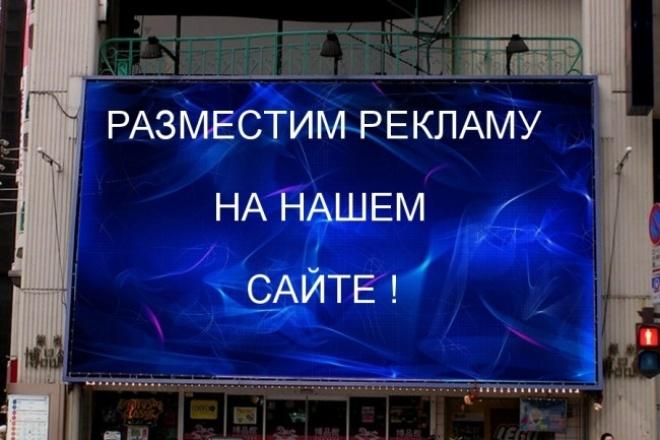 Размещу вашу рекламу на своем сайте 1 - kwork.ru