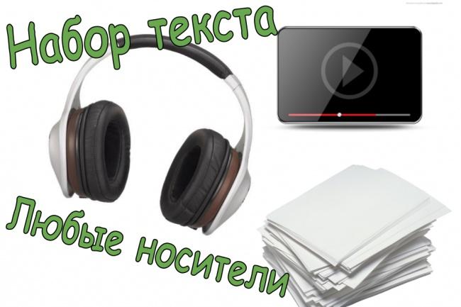 наберу текст с файлов любого формата 1 - kwork.ru
