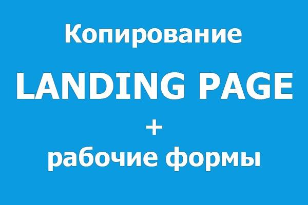 Копия лендинга, одностраничного сайта 1 - kwork.ru