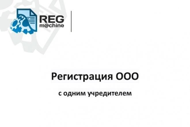 Регистрация ООО с одним учредителем 1 - kwork.ru