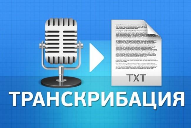 Транскрибация. Перевод из аудио в текст, перевод из видео в текст 1 - kwork.ru