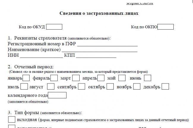 Заполню СЗВ-М 1 - kwork.ru