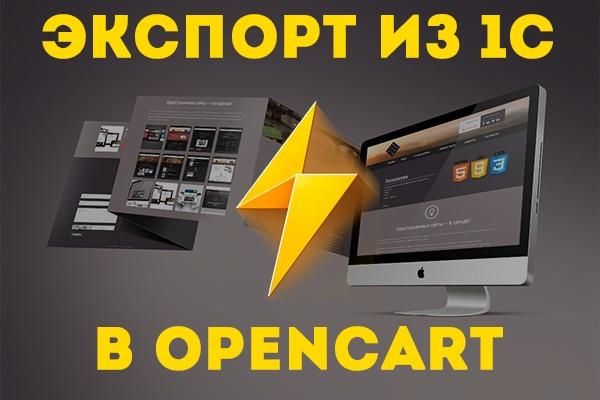 Настрою импорт и экспорт из 1С в OpenCart 1 - kwork.ru