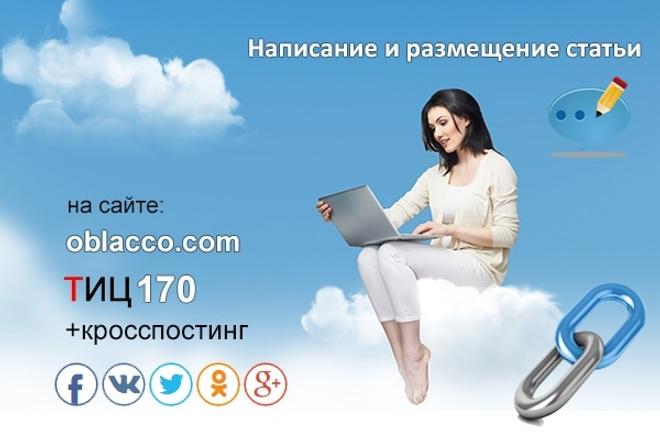 Статья с размещением на трастовом сайте ТИЦ 130,3000 пос. сутки 1 - kwork.ru