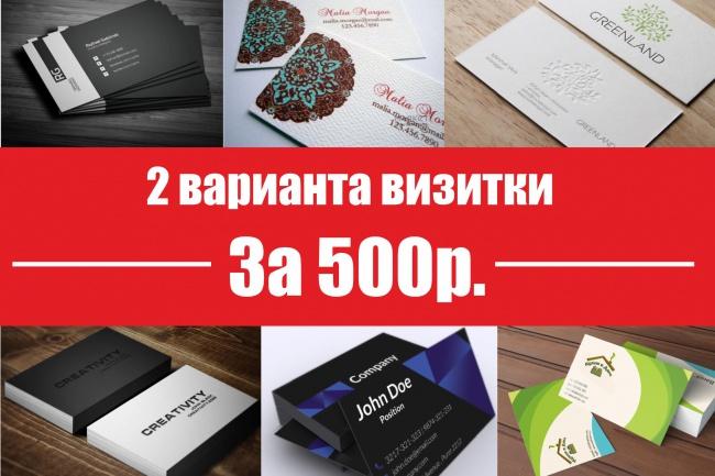 Два макета двусторонней визитки + визуализация + ч/б 1 - kwork.ru