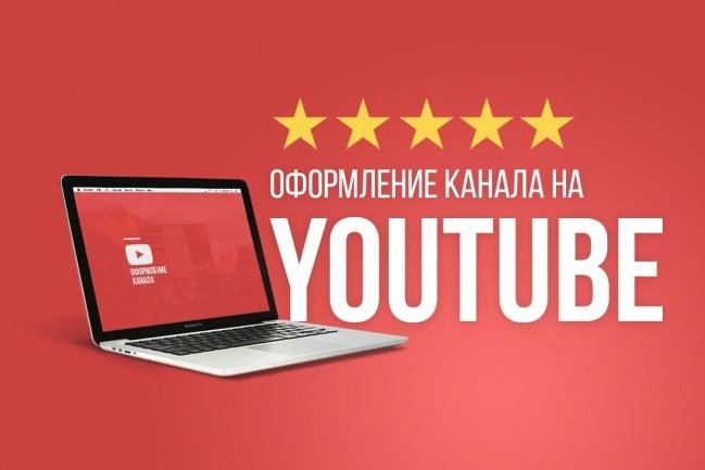 Оформление youtube канала 1 - kwork.ru