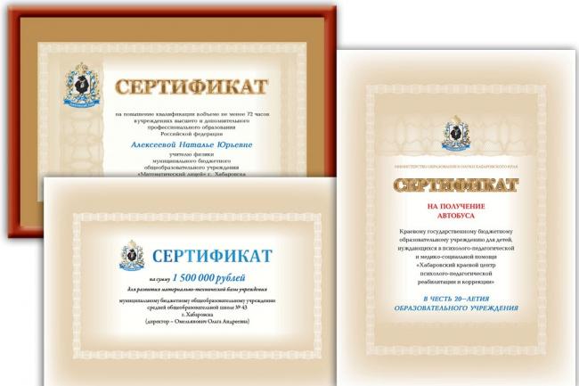 нарисую диплом, сертификат, грамоту 3 - kwork.ru