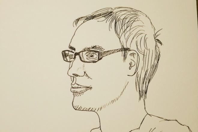 Нарисую Ваш портрет с фотографииИллюстрации и рисунки<br>Нарисую черно-белый портрет на формате А5 по фотографии. Результат в виде скана высокого качества. Для чего может понадобиться такой рисунок? 1) Можно использовать в качестве аватарки в соц. сетях. 2) Можно использовать как изображение на чашку, футболку и др.<br>