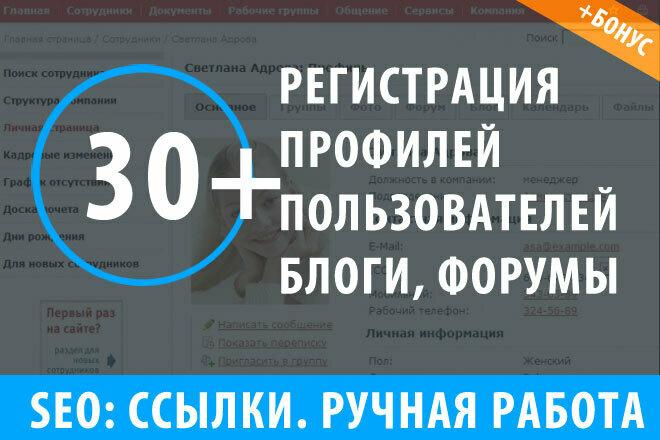 30 ссылок с трастовых профилей с хорошим ИКС 1 - kwork.ru