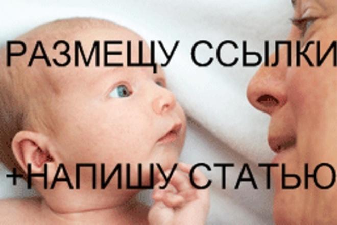 Размещу ссылки с написанием статьи на качественном сайте 1 - kwork.ru