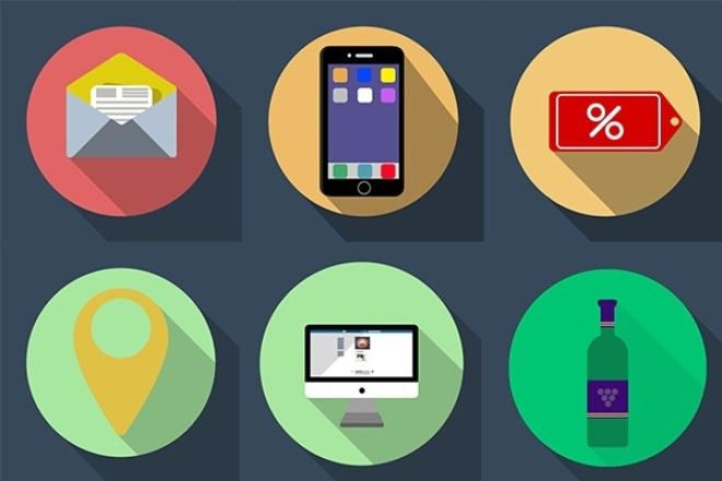нарисую 8 иконок на любую тематику 1 - kwork.ru
