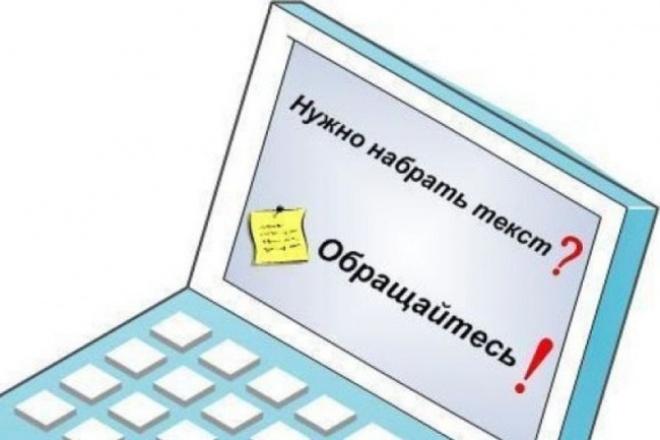наберу текст любой сложности 1 - kwork.ru