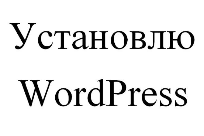 Установлю WordPress 1 - kwork.ru