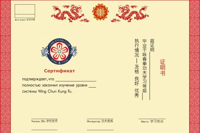 Создам дизайн сертификатов, меню 1 - kwork.ru
