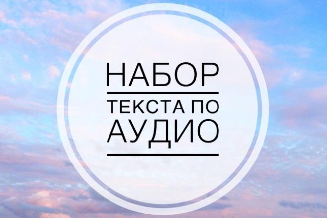 Набор текста по аудио или видео 60 минут 1 - kwork.ru