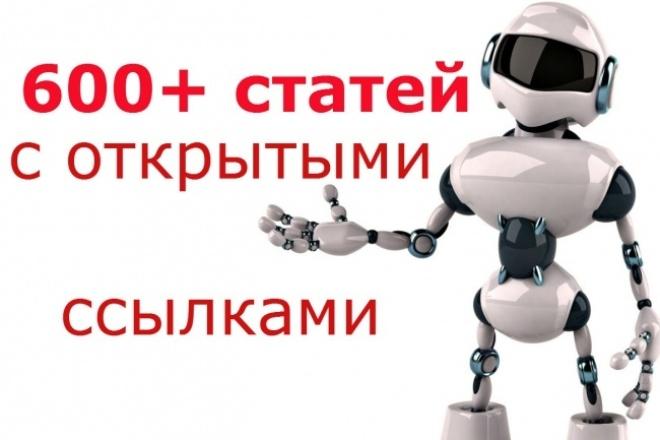 Ссылки из 600 статей с общим ТИЦ-100000+ 1 - kwork.ru